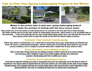 Tips to Plan Your Spring Landscaping Project in the Winter